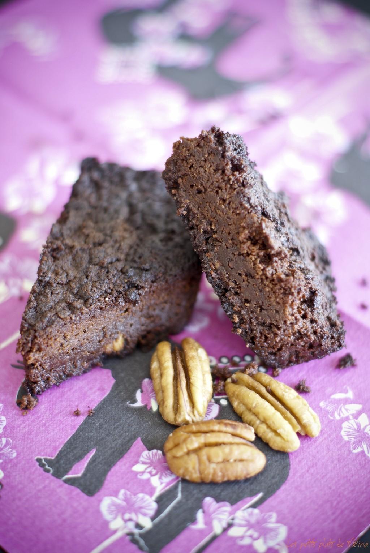 Brownie, pécan caramélisées - Les petits plats de Mélina