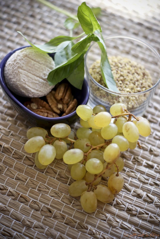 Courses - Quinoa raisin chèvre pécan - Les petits plats de Mélina