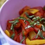 Poivrons cuits et basilic - Les petits plats de Mélina