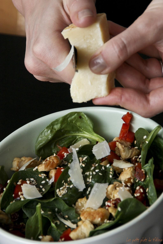 Salade pousses d'épinard, oeuf mollet - Les petits plats de Mélina