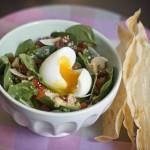 Salade pousses d'épinard, oeuf mollet 2 – Les petits plats de Mélina