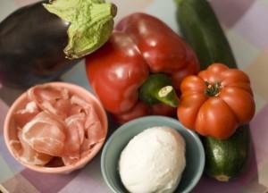 Légumes et spek grattinés - Courses