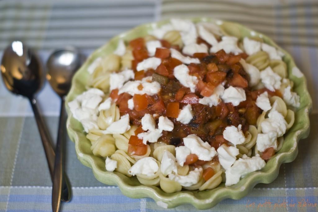 Orecchiette Aubergines tomates