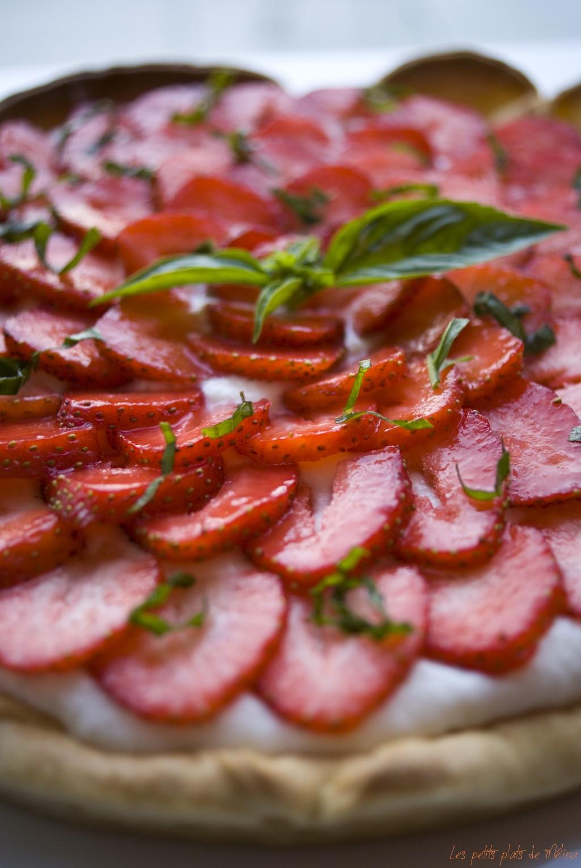 Tarte aux fraises basilic- Les Petits Plats de Mélina