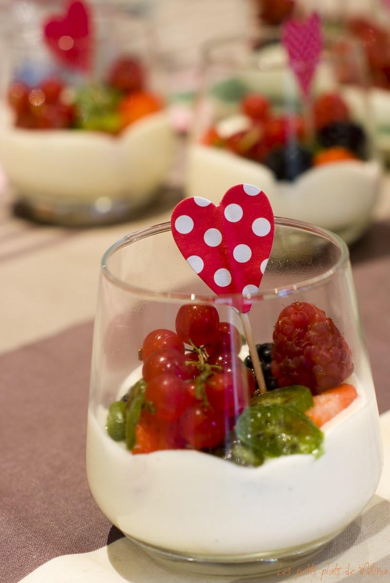 Mousse de fromage blanc, salade de fruits- les Petits Plats de Mélina