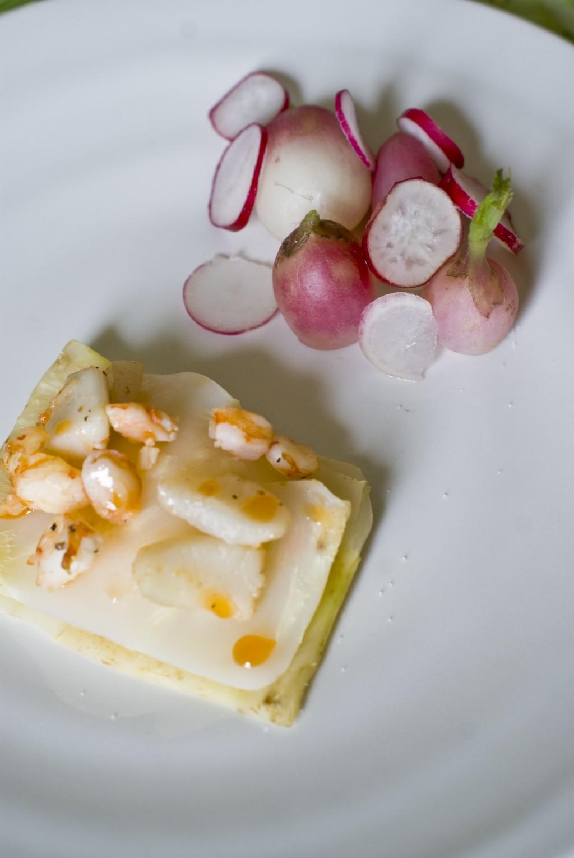 1000 feuille de St Jacques et crevettes huile de homard - Les Petits Plats de Mélina