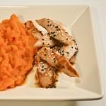 Poulet sauce soja et purée carottes au curcuma - Les Petits Plats de Mélina