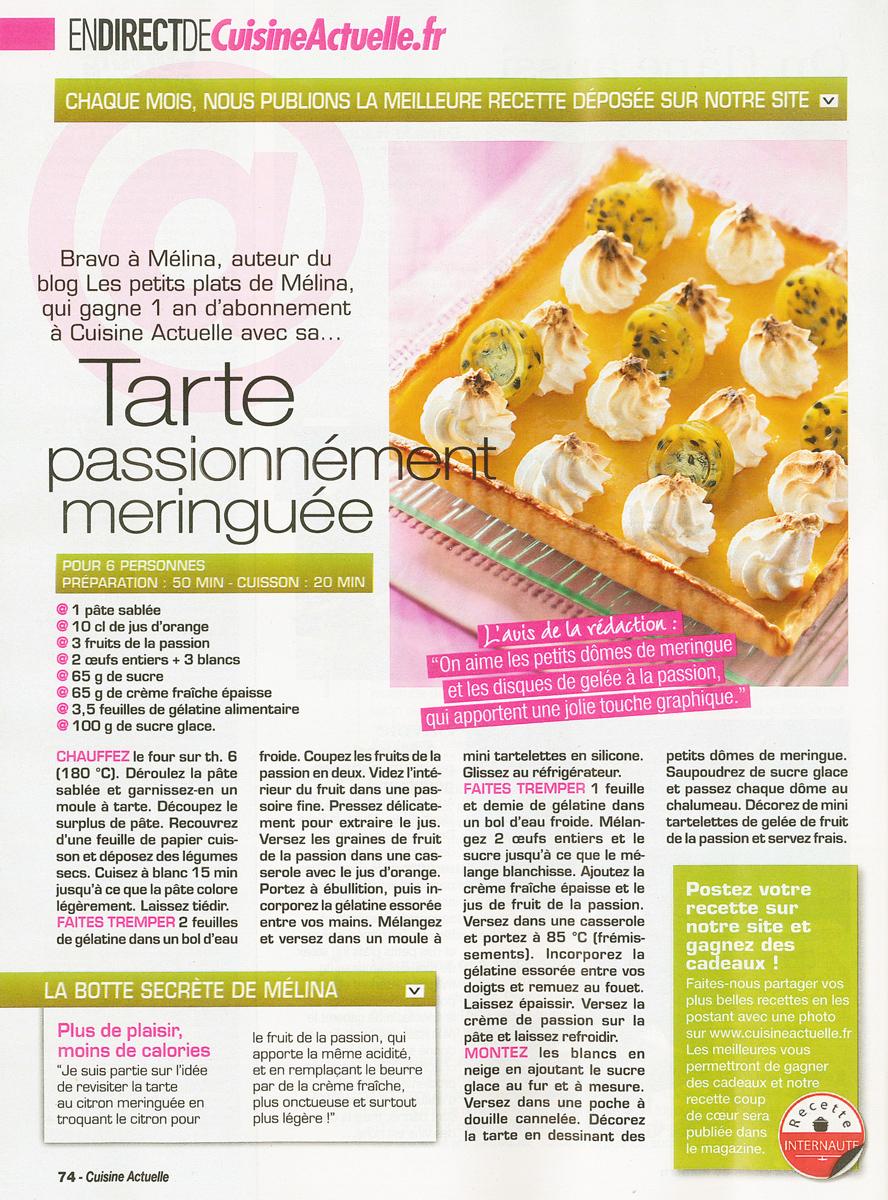 Cuisine Actuelle - Les Petits Plats de Mélina