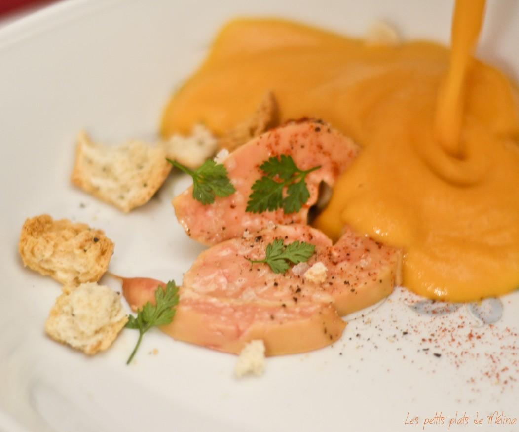 Escalope foie gras & velouté de potiron - Les Petits Plats de Mélina