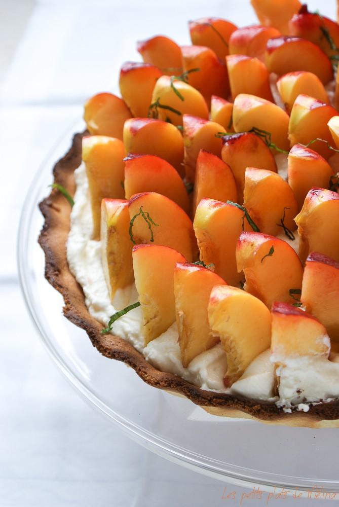 tarte aux nectarines - Les Petits Plats de Mélina