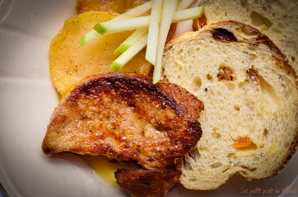 Foiegras poélé aux pommes - Les Petits Plats de Mélina