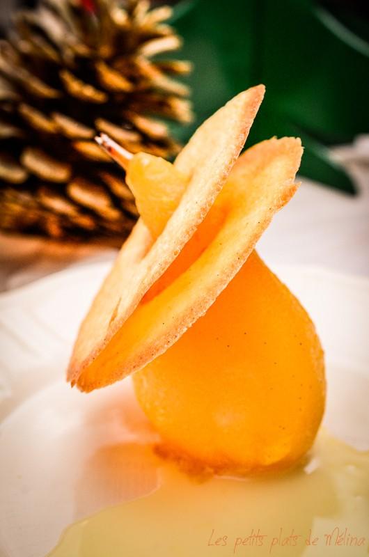 Poire pochée au jus d'orange - Les Petits Plats de Mélina