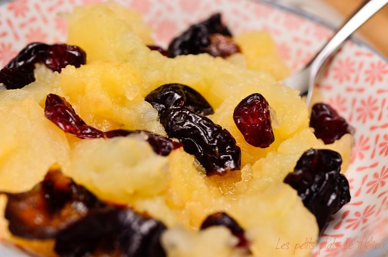 Compote pomme pruneaux cranberries- Detox - Les Petits Plats de Mélina