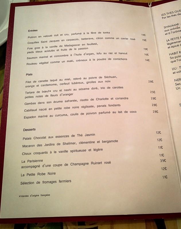 Restaurant Le 68 Guy Martin, la carte - Les Petits Plats de Mélina
