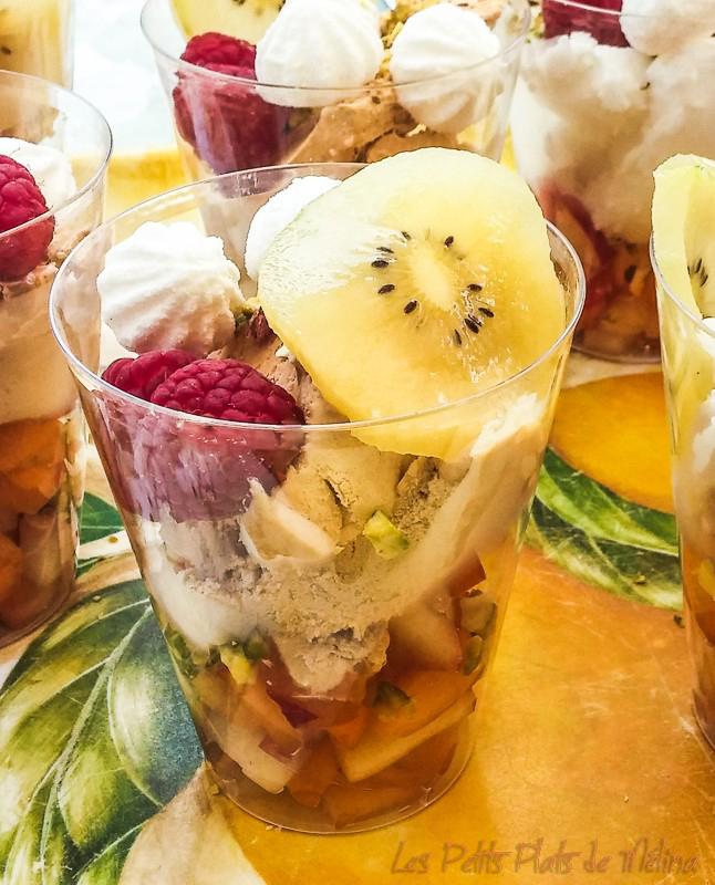 Glace et fruits - Les Petits Plats de Mélina