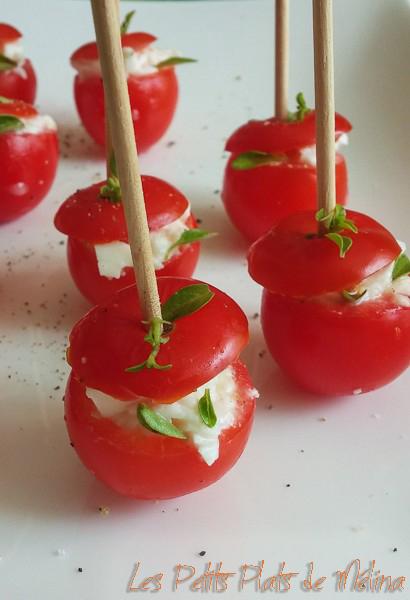 tomates cerises fourrées à la mozza - Les Petits Plats de Mélina