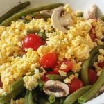 Salade froide Haricots et mimosa - Les Petits Plats de Mélina
