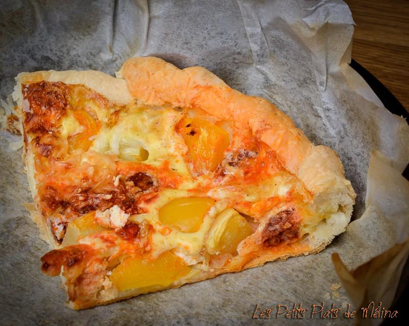 Quiche Chorizo poivrons courgette- Les Petits Plats de Mélina