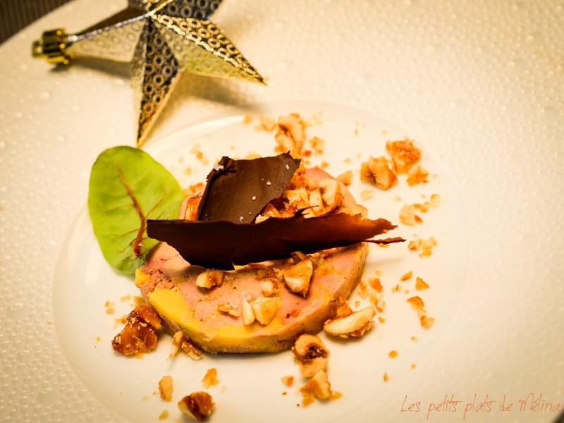 Foie gras caramel de noisettes et chocolat - Les Petits Plats de Mélina
