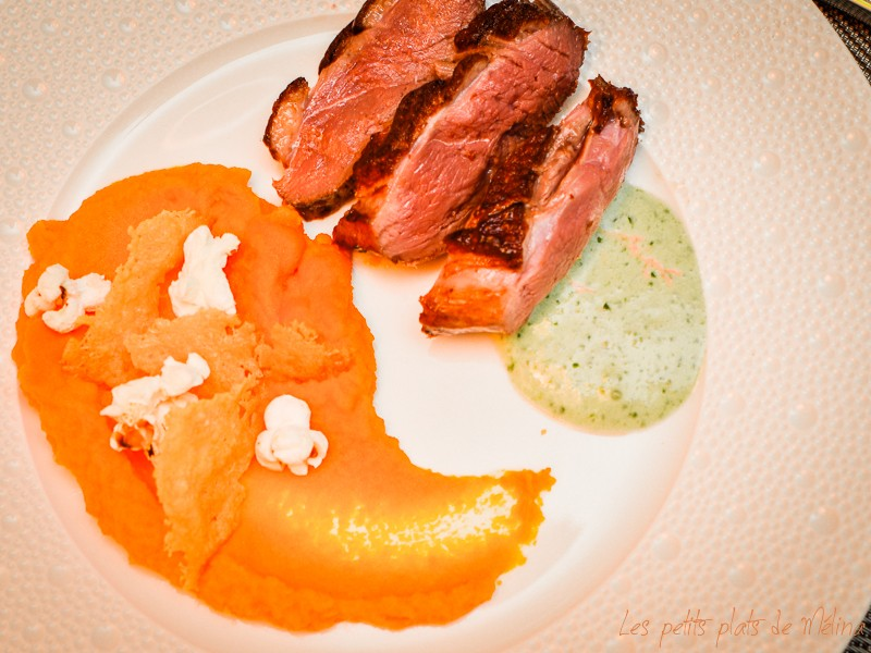 Magret canard purée carottes - Les Petits Plats de Mélina