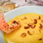 soupe de potimarron et langoustine - Les Petits Plats de Mélina