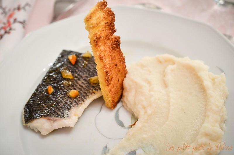 Filet de abr, miel d'orange purée de céleri à l'amande - Les Petits Plats de Mélina